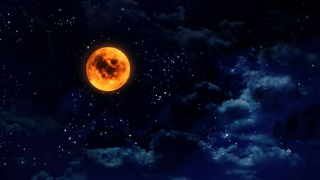 couleur orange: pumpkin orange color of the halloween moon
