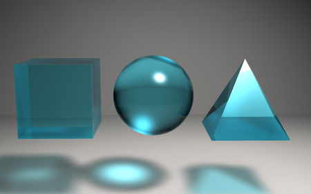 caustic: The 3d geometric create by difference textures and materials