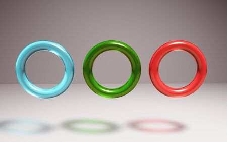jasper: The 3d rings geometric with multiple crystal materials Stock Photo
