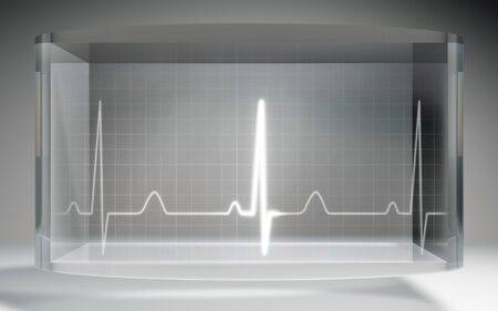 liquid crystal: The futuristic liquid crystal display for EKG monitor medical theme