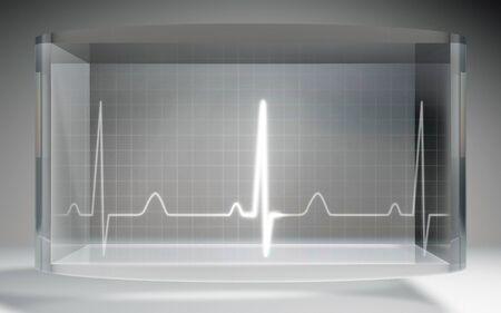 oscillate: The futuristic liquid crystal display for EKG monitor medical theme