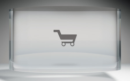 kart: The futuristic crystal Display of market kart icon background image