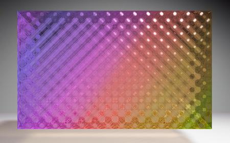 jewel box: The 3D render of futuristic crystal square pattern
