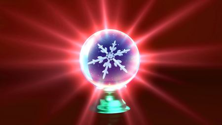 crystal background: snowflake in ice crystal ball background for Christmas celebration theme