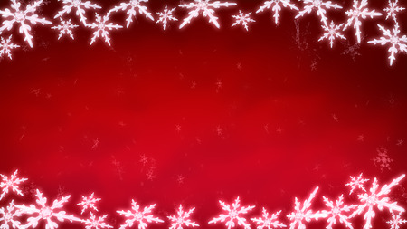 celebration background: Ice crystal snowflakes of overlay background for Christmas celebration theme Stock Photo