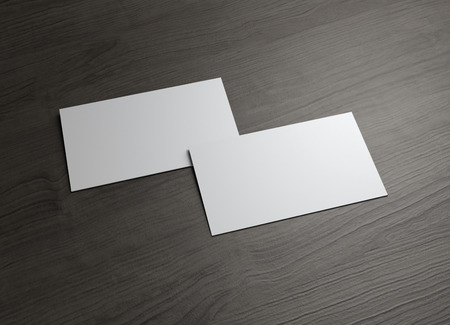 business card template: The 3d name card to use for any presentation of business company Stock Photo