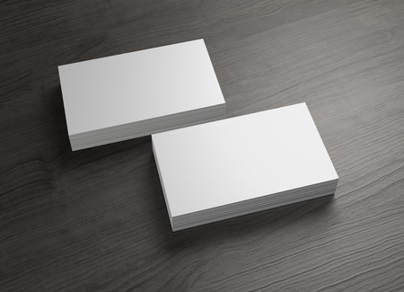 phone business: The 3d name card to use for any presentation of business company Stock Photo