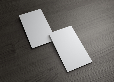 verticales: La tarjeta de presentaci�n 3d a utilizar para cualquier presentaci�n de la empresa Foto de archivo
