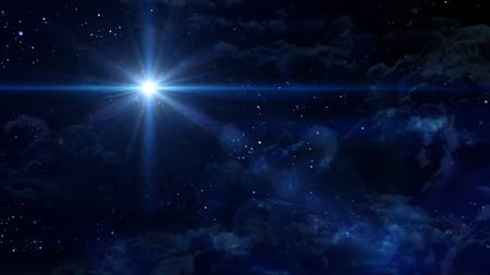 A Bethlehem illuminated by the Christmas star of Christ Standard-Bild