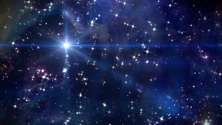 beauty night sky with star background in space