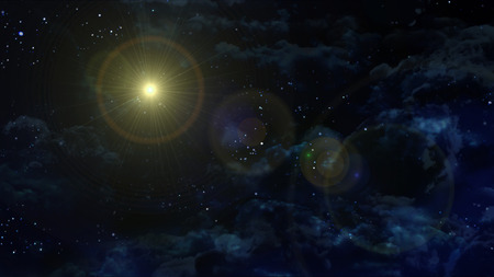 incarnation: the night sky with star background