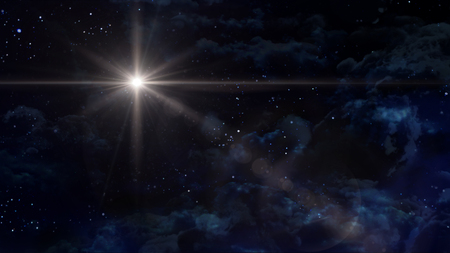 the night sky with star background