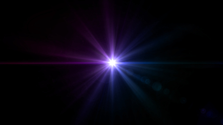 special effect: abstract image of lens flare representing the spotlight with special effect