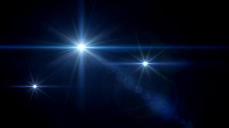 cross light: abstract image of lens flare representing the camera flash with special effect Stock Photo