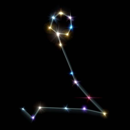 astronomie: das Sternzeichen bilden vom Funkeln helle Sterne Hintergrund Lizenzfreie Bilder