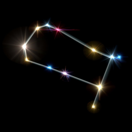 twinkles: the zodiac sign forming from the twinkle bright stars background
