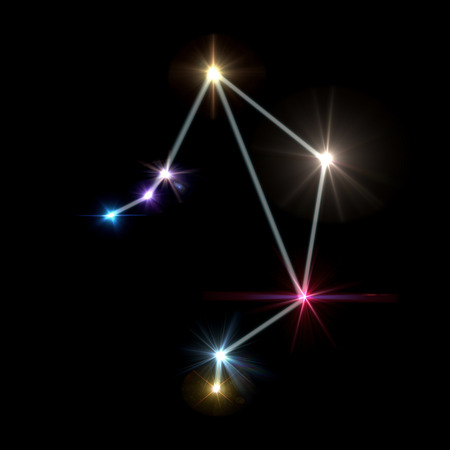 twinkle: the zodiac sign forming from the twinkle bright stars background
