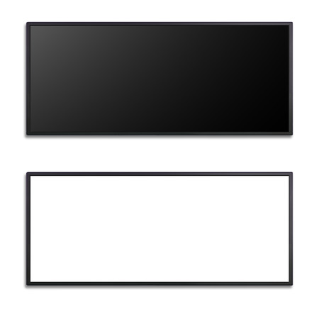 flat screen monitor: blank of letter box flat screen for keying any promotion banner
