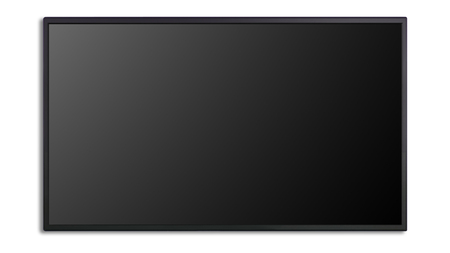 flat panel monitor: blank of led cinema display isolated on white background