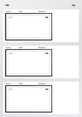 storyboard: Professional of film storyboard template for easy to present the process of story. Stock Photo