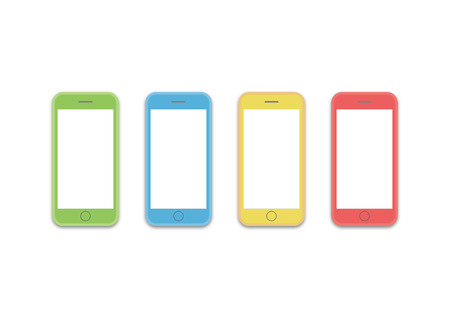 visualizing: colorful styles of cell phone screen HD template is convenience to present the storyline to client. A4 design of paper ratio is easy to fit for print out.