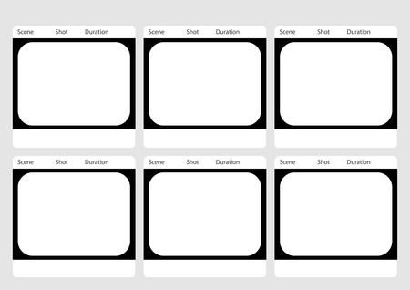 ntsc: Professional of traditional tv 4:3 ntsc and pal storyboard template is convenience to present the storyline to client. A4 design of paper ratio is easy to fit for print out.