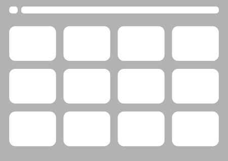 Professionale di tradizionale TV 4: 3 NTSC e PAL modello storyboard è la convenienza per presentare la storia di cliente. disegno A4 del rapporto di lavoro è facile da montare per la stampa. Vettoriali