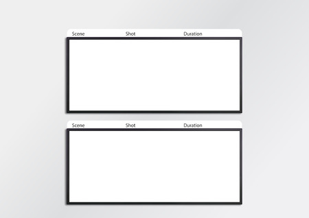 storyboard: Professional of film scale storyboard template for easy to present the process of story. A4 design of paper ratio is easy to fit for print out. Stock Photo