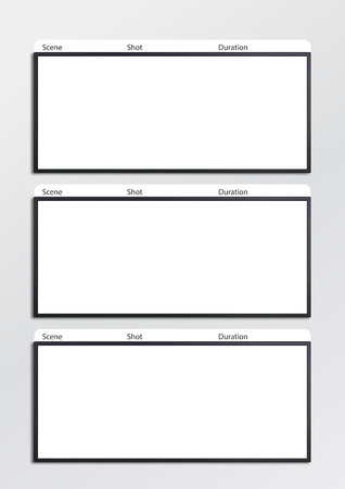 Professional Of Film Storyboard Template For Easy To Present Stock