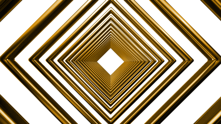 three dimension shape: abstract metal pattern isolated on white background