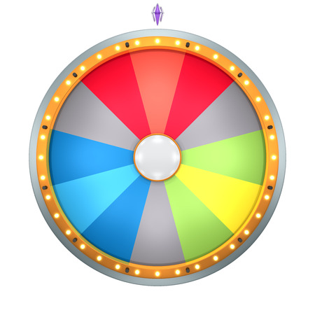 lucky: Lucky spin represent the wheel of fortune concept. This graphic is create by Three Dimensional. Welcome to add on any text and prize for use in game or sale promotion.