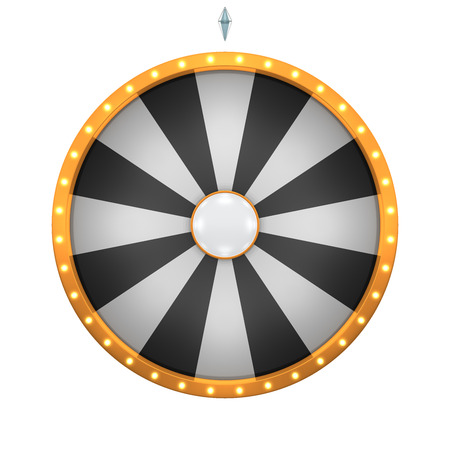 wheel spin: Lucky spin represent the wheel of fortune concept. This graphic is create by Three Dimensional. Welcome to add on any text and prize for use in game or sale promotion.
