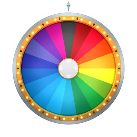 럭키 스핀 재산 개념의 바퀴를 나타냅니다. 이 그림은 치수 세에 의해 생성됩니다. 게임 또는 판매 촉진에 사용되는 텍스트 및 상품에 추가 오신 것을