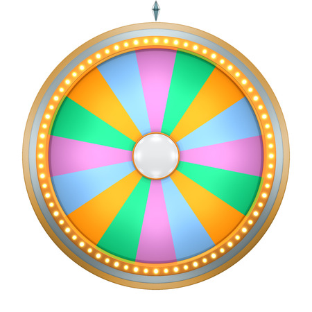three wheel: Lucky spin represent the wheel of fortune concept. This graphic is create by Three Dimensional. Welcome to add on any text and prize for use in game or sale promotion.