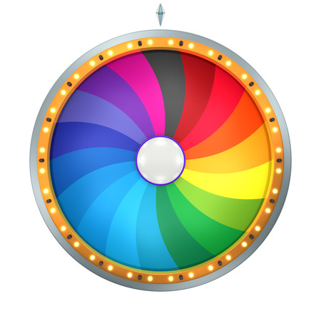 to spin: The wheel of fortune or Lucky spin animation was created by Three Dimensional.