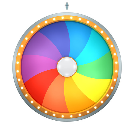 The wheel of fortune or Lucky spin animation was created by Three Dimensional.