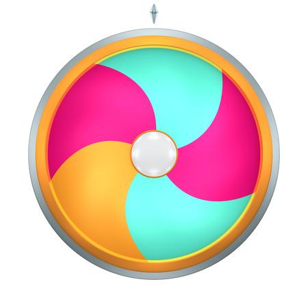 bonne aventure: La roue de la fortune ou la chance de spin animation a été créé par tridimensionnelle.