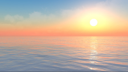 shine: Dramatic concept of 3D ocean scene Stock Photo