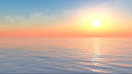 endlos: Dramatische Konzept der 3D-Szene Ozean