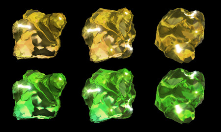 specular: 3d rendering of abstract crystal stone image Stock Photo