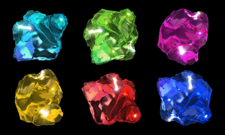gems: 3d rendering of abstract crystal stone image Stock Photo