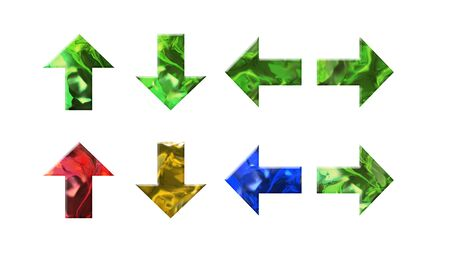 crystal texture of arrow shape for four direction
