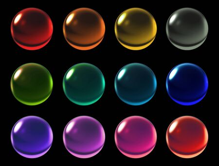 blue ball: 3d illustration of colorful crystal ball