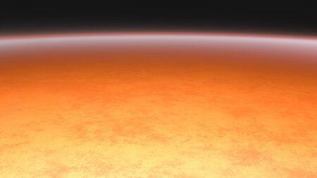 3D render of high temperature of solar sun