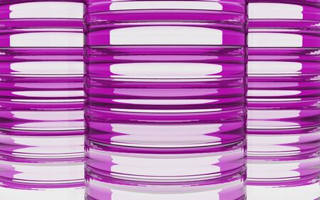 tier: Cylinder glass material background by 3D rendering