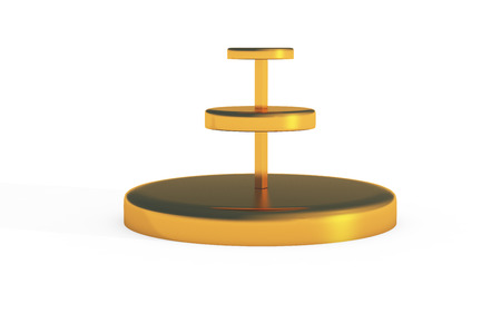 countertop: three tier of round stand for display by 3D rendering