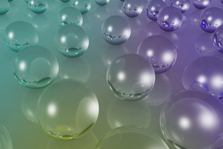 specular: 3d illustration of transparent glass ball on background with crystal material Stock Photo