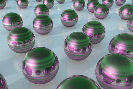 nickel: 3d illustration of abstract metallic balls backgrounds