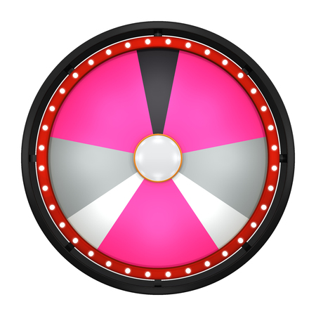 represent: 3d illustration of lucky spin represent the wheel of fortune concept. Three dimensional wheel graphic for use in game or sale promotion. Stock Photo