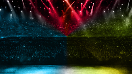color spotlight with stage in concert performance